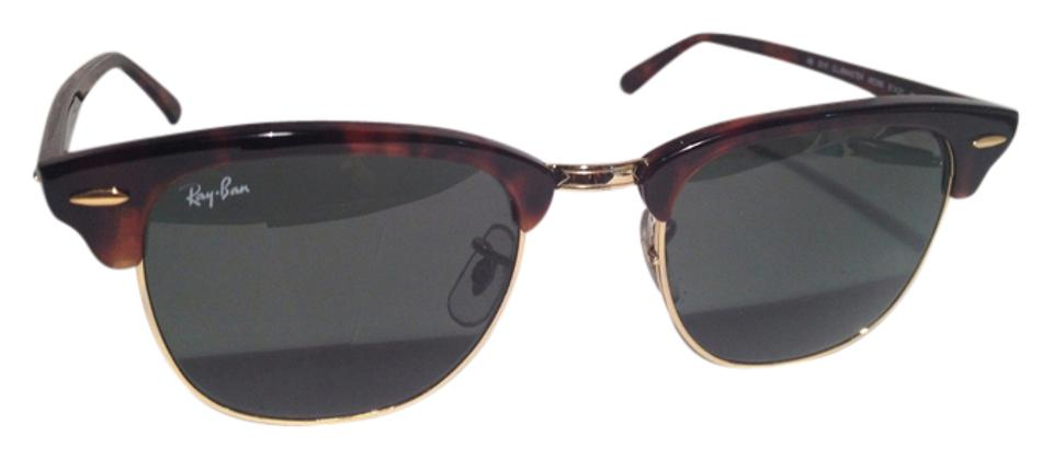 fb8cf0849739d Ray-Ban AUTHENTIC RayBan RB 3016 CLUBMASTER W0366 51-21 3N SUNGLASSES Image  0 ...