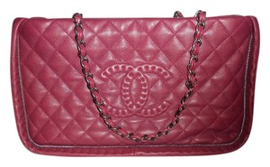Chanel Quilted Chain Istanbul Tote in Burgundy