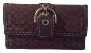 Coach Coach Monogram Brown and Leather Trim wallet and Checkbook