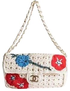 Chanel Chain Crochet Embroidered Applique Shoulder Bag