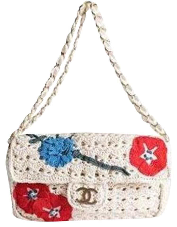 Crochet Back Bag : 2010 Crochet Embroidered Applique Classic Flap Chain Shoulder Bag ...