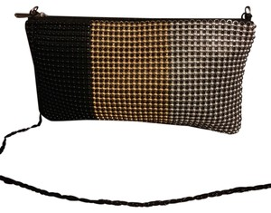 Other Black Gold Silver Clutch
