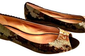 Prada Multi-toned Bronze/Black Flats