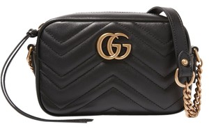 Gucci Gg New Marmont Matelasse Mini Cross Body Bag