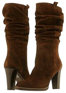 Via Spiga Cowboy Suede Brown Boots