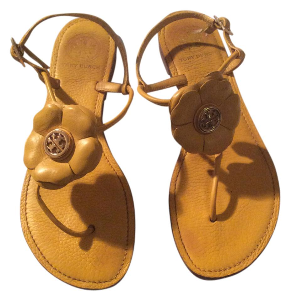 e10b728b8 Tory Burch Yellow Flower Measures 10 Inches. Sandals. Size  US 8 Regular (M  ...