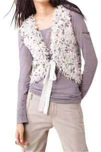 Juicy Couture Jc Fringed Italian Wool Knitted Wool Vest