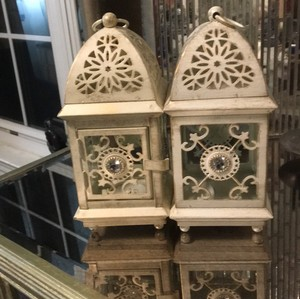 Pier 1 Imports White Set Of 5 Moroccan Style Lanterns Votive/Candle