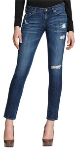 AG Adriano Goldschmied Skinny Stretchy Distressed Skinny Jeans-Distressed