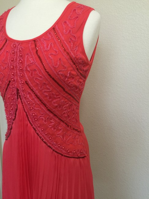 Other short dress Coral Sundress Tropical Wear Sleeveless Party on Tradesy
