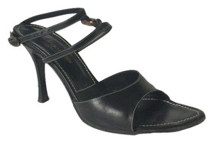 Sergio Rossi Leather Black Sandals
