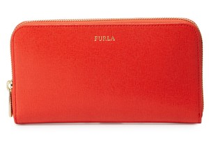 Furla Nwt Classic XL Zip-Around Leather Wallet