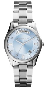 Michael Kors Michael Kors Colette Silver Tone Stainless Steel Blue Dial Watch MK6068