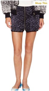 Rebecca Taylor Nwt Mini Silk Mini Skirt Charcoal / Purple