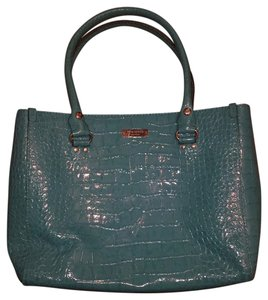 Kate Spade Vintage Leather Tote in Turquoise patent