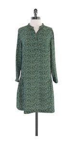 Steven Alan short dress Green Multi Color Spotted Silk on Tradesy