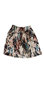 Rachel Roy Apricot Multi Color Splatter Print Skirt