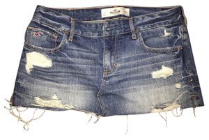 Hollister Mini Skirt Blue Jeans