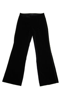 Banana Republic Velvet Holiday Date Night Evening Formal Boot Cut Pants Black