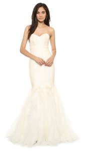 22424d2890be9 Theia Off White Silk Patricia Mermaid Gown Formal Wedding Dress Size 10 (M)
