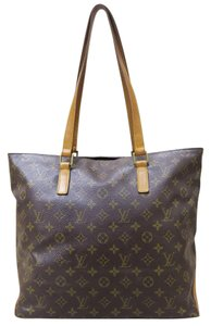 Louis Vuitton Lv Cabas Mezzo Canvas Shoulder Bag