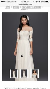 David's Bridal 3/4 Sleeve Wedding Dress Wedding Dress
