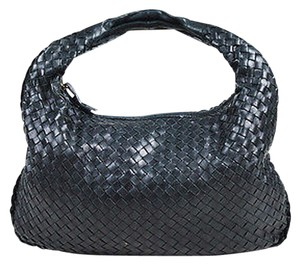 Bottega Veneta Leather Intrecciato Woven Medium Veneta Hobo Bag