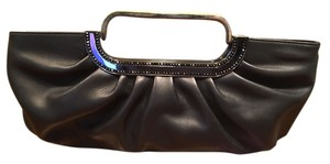 Judith Leiber Leather Black Clutch