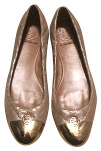 Tory Burch rose gold and gold Flats