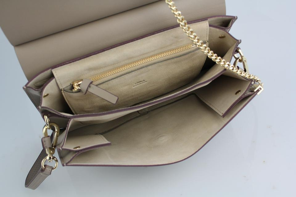 Bag Medium Gray Leather and Faye Chloé Motty Suede Shoulder 8watapx