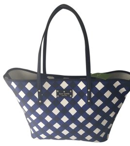 Kate Spade Tote in Navy /white