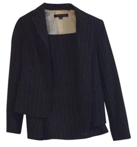 Anne Klein Two Piece Skirt Suit with Thin White Vertical Strips