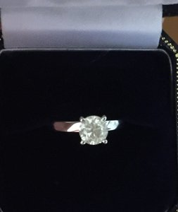 Diamond United Certified Natural 1.02 CT Round Cut Diamond Solitaire Engagement Ring
