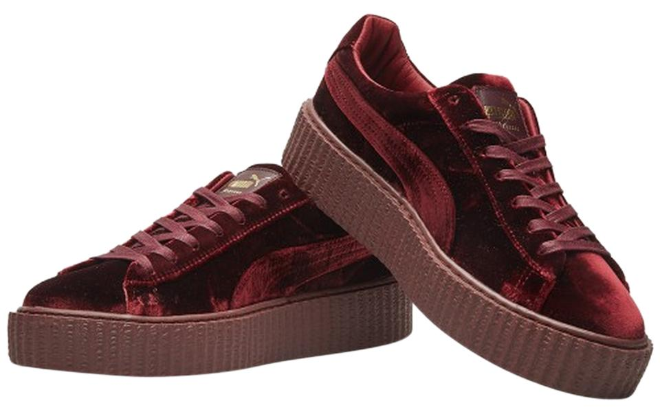 new concept a986f 1a9a7 Puma Royal Purple New Rihanna Fenty Creepers Velvet Burgundy Sneakers Size  US 7.5