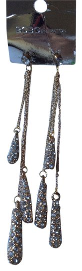 BCBGeneration water drop long chain rhinestone gold earrings Image 1