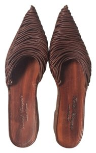 Robert Clergerie Platform Leather Sandal Brown Sandals