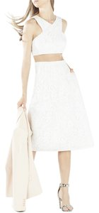 BCBGMAXAZRIA Vintage Lace Crop Top White Lace Dress