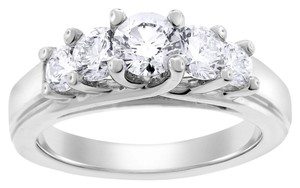 Other 1.50 Carat Natural Five Diamond Engagement Ring In Solid 14k White