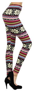 Leggings Depot Blue/White/Red/Pink Leggings