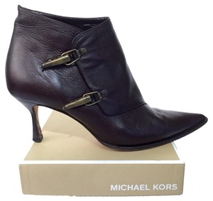 Michael Kors Mk Leather Brown Boots