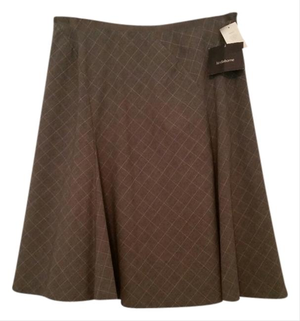 Liz Claiborne A-line Skirt Grey Plaid