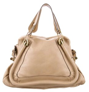 Chlo Satchel in Beige