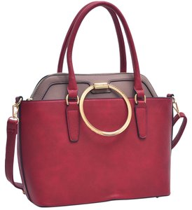 Other Classic Large Handbags Vintage The Treasured Hippie Tote in Red/Taupe