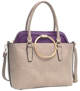 Other Classic Large Handbags Vintage The Treasured Hippie Tote in Stone/Purple