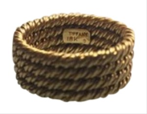 Tiffany & Co. Tiffany & Co 18k 4row rope ring