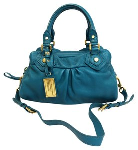 Marc by Marc Jacobs Classic Q Baby Groovee Pebbled Leather Satchel in Reef Blue