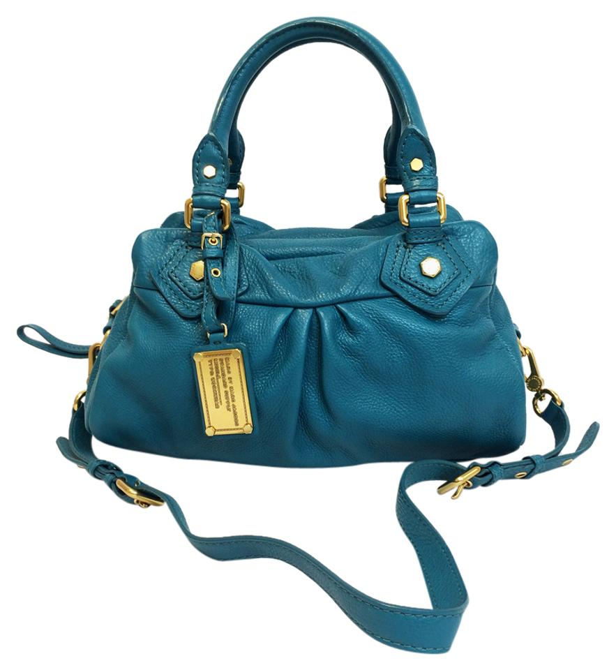 91115512d369 Marc by Marc Jacobs Classic Q Baby Groovee Pebbled Leather Satchel in Reef  Blue Image 0 ...