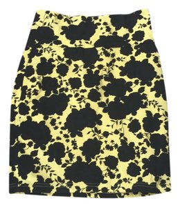 Forever 21 Mini Skirt black yellow