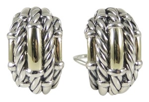 David Yurman David Yurman New Metro Semi Hoop Earrings