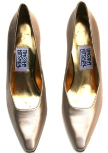 Timothy Hitsman Leather Narrow Light Gold Pumps